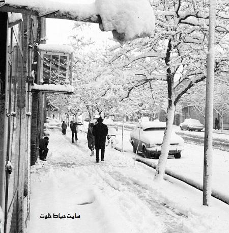 عکس/ یک روز برفی تهران در سال 1353