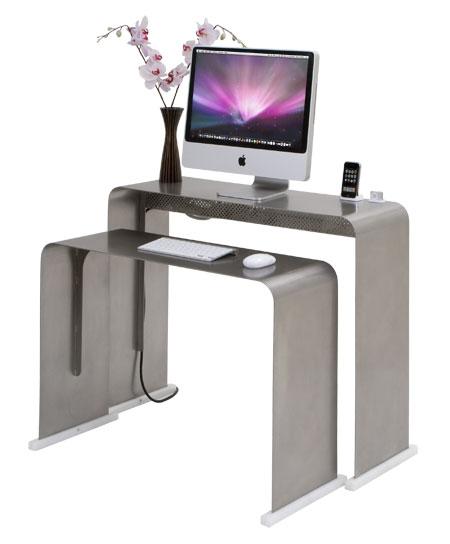 میز کامپوتر مدرن و کم جا