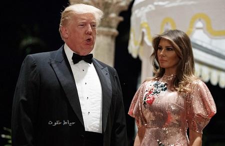 ترامپ و همسرش ملانیا در جشن سال نو میلادی 2018