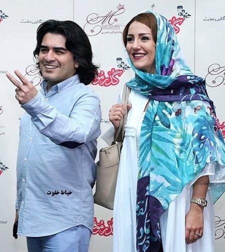 سامان احتشامی و همسرش راز