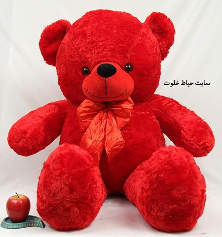 هدیه ولنتاین عروسک خرسی قرمز
