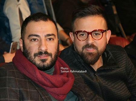 عکس نوید محمدزاده و هومن سیدی در افتتاحیه فیلم فجر امسال