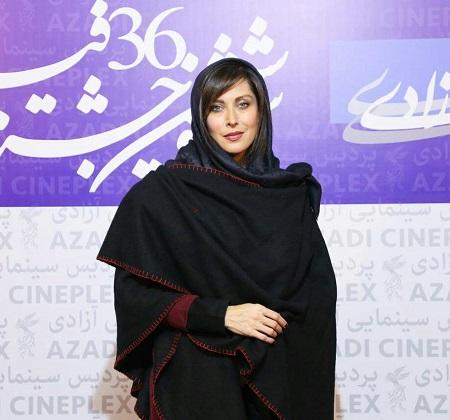 مهتاب کرامتی در مراسم افتتاحیه جشنواره فیلم فجر 96