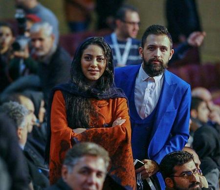 محسن افشانی و مونا فرجاد در افتتاحیه جشنواره فیلم فجر