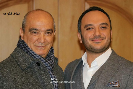 احسان کرمی و پدرش در جشنواره فیلم فجر