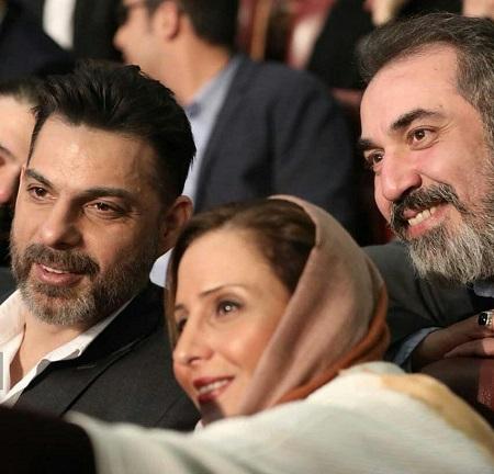 پیمان معادی و همسرش و سیامک انصاری در مراسم اختتامیه فیلم فجر
