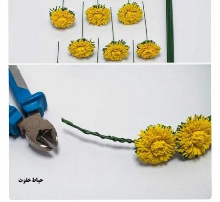 حلقه گل سر ساده با فوم