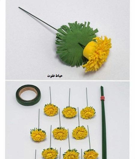 آموزش ساخت حلقه گل سر