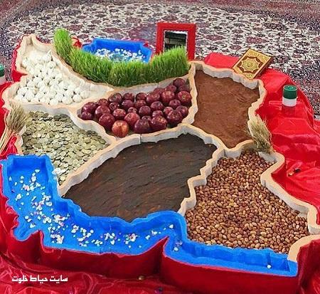 عکس/ طرحی جالب برای سفره هفت سین عید نوروز