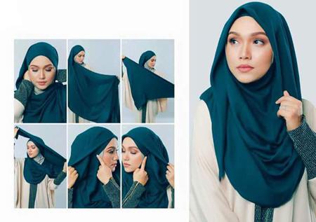 عکس انواع مدل جدید بستن روسری و شال