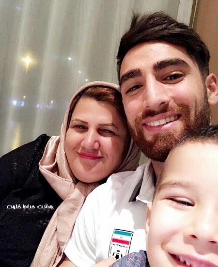 علیرضا جهانبخش و مادرش+عکس