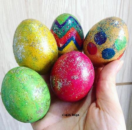 تزیین تخم مرغ عید با اکلیل