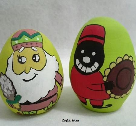 نقاشی تخم مرغ رنگی برای کودکان