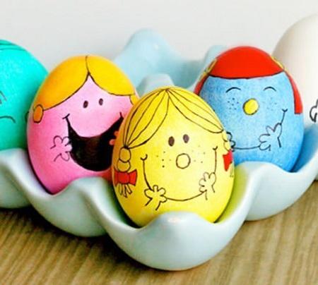 مدل های کودکانه تخم مرغ رنگی