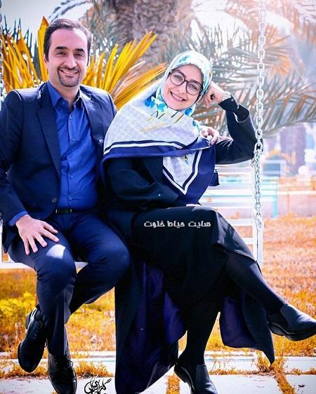 عکس عاشقانه نیما کرمی و همسرش زینب زارع