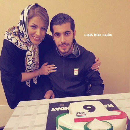 سعید عزت اللهی و مادرش+عکس