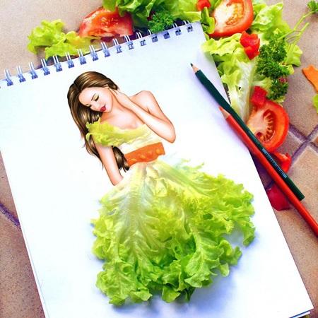 نقاشی ترکیبی با کمک وسایل+ نقاشی خلاقانه