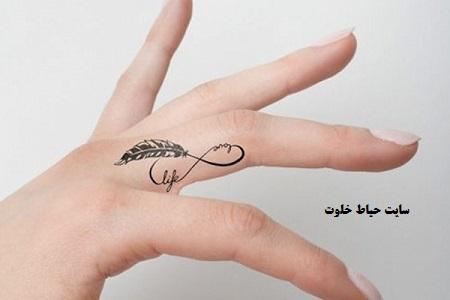 طرح تاتو روی انگشت، تاتو بند انگشتی