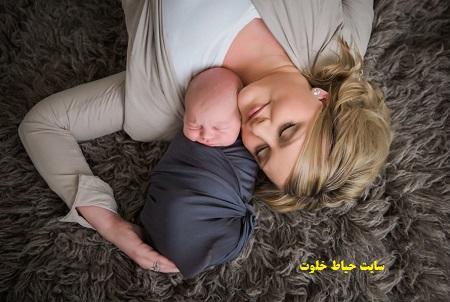 ژست زیبا نوزاد برای عکاسی