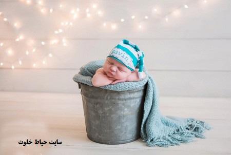 ژست زیبا و خلاقانه برای عکاسی از نوزاد