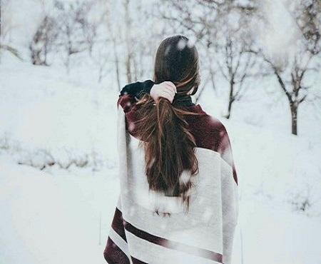 عکس زمستانی دخترانه برای پروفایل