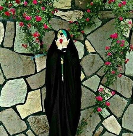عکس دختر چادری خوشتیپ ، عکس نوشته چادری