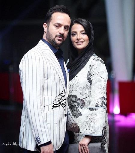مونا فائزپور و همسرش