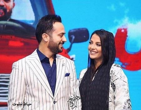 احمد مهرانفر و همسرش مونا فائزپور