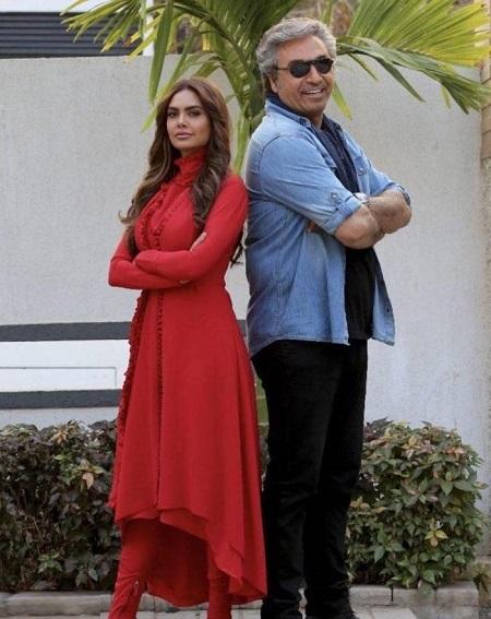 بازیگر زن و مدل زیبای هندی در کنار حمید فرخ نژاد+عکس