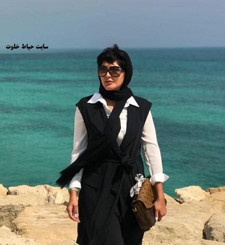 تیپ مریم معصومی در سواحل خلیج فارس+عکس
