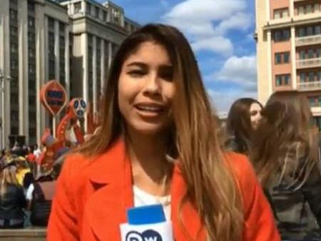 آزار جنسی خبرنگار هنگام اجرای زنده در جام جهانی روسیه+عکس