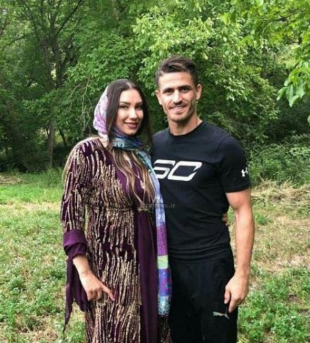 عکس وریا غفوری و همسرش