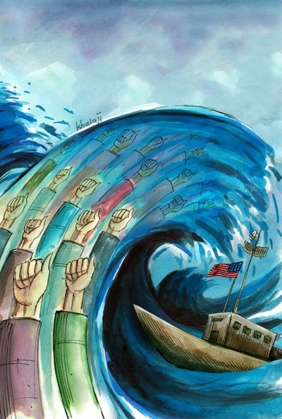 کاریکاتور مفهومی پیروزی انقلاب
