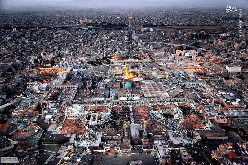 تصویر هوایی و جدید از حرم امام رضا (ع)