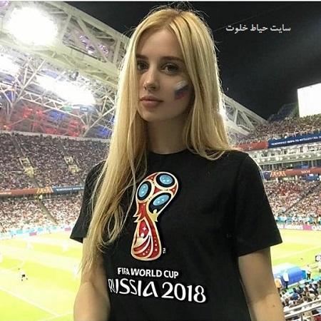 زیباترین تماشاگران زن روسیه ای در جام جهانی 2018 + عکس