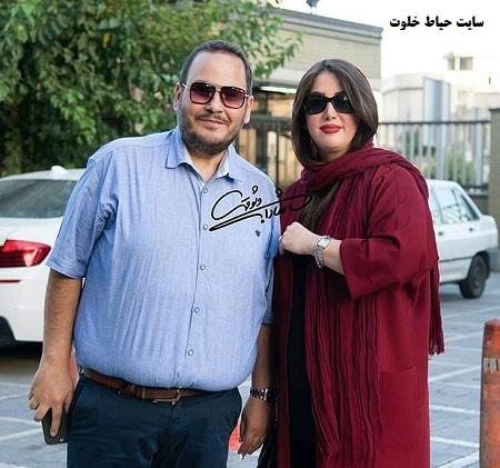 عکس جدید رضا داوود نژاد و همسرل غزل بدیعی