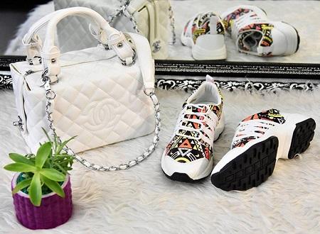 مدل های کیف و کفش ست دخترانه اسپرت (جدید)