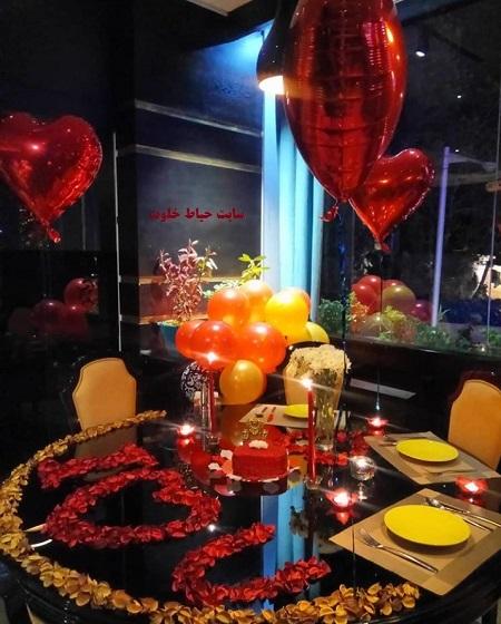 تزیین میز تولد عاشقانه