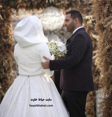 مراسم ازدواج فریبا باقری مجری مسابقه نما به نما در شب یلدا + عکس همسرش
