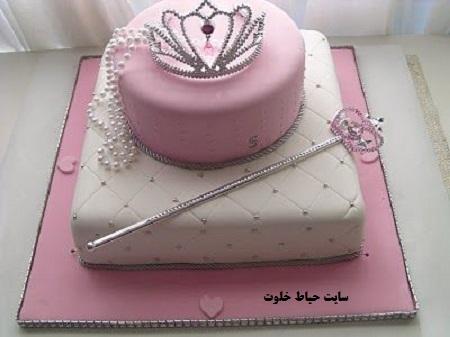 کیک تولد بچگانه دخترانه + تزیین کیک دخترانه