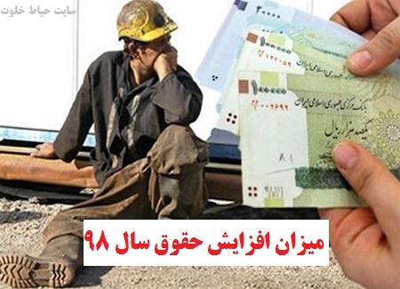حقوق سال 98 | افزایش حقوق کارگران در سال 98 تعیین شد!