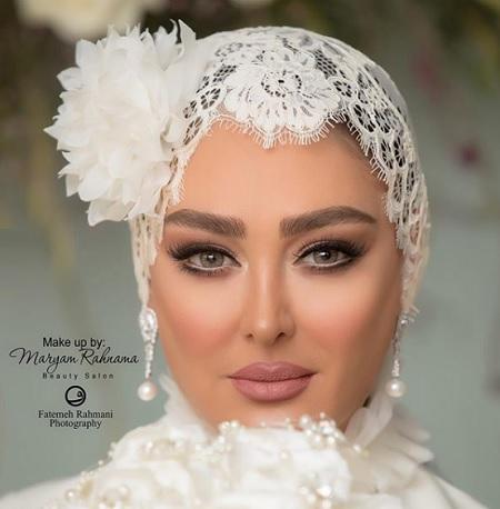عکس های عروسی الهام حمیدی + مدل آرایش زیبای الهام حمیدی