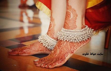 انواع مدل های جدید طرح حنا روی پا
