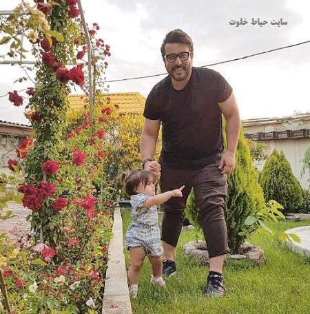 عکس بانمک محسن کیایی و دخترش رز |