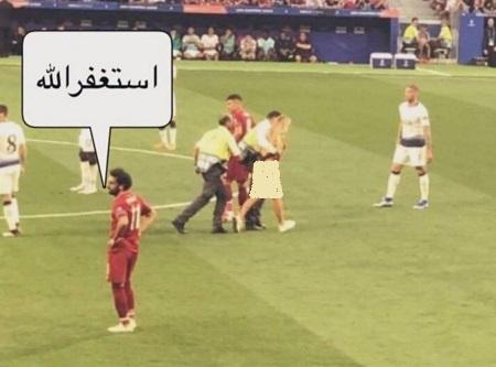 واکنش محمد صلاح به دیدن جیمی جامپ بازی لیورپول تاتنهام