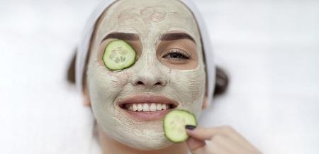 پرشدن و سفت شدن پوست با ماسک خیار