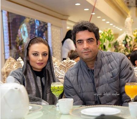یکتا ناصر و همسرش منوچهر هادی در آیین سپاس تهیه کنندگان سینمای ایران