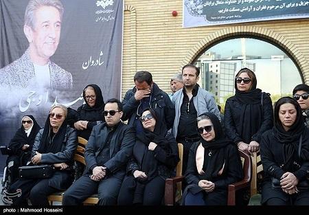 فلورا سام در مراسم تشییع جنازه مجید اوجی