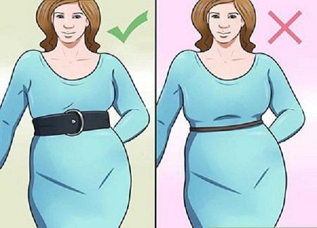 ست کردن لباس برای خانم هایی که شکم بزرگی دارند