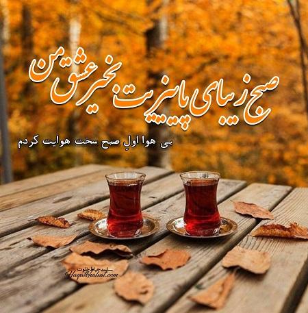 پیامک صبح بخیر پاییزی عاشقانه | صبح پاییزیت بخیر عشقم |